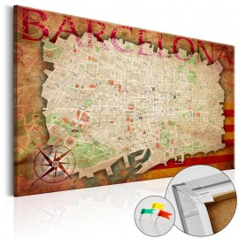 Tablero de corcho - Map of Barcelona [Cork Map]