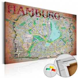Tablero de corcho - Hamburg [Cork Map]