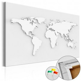 Quadro de cortiça - Monochromatic World [Cork Map]