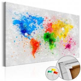 Quadro de cortiça - Expressionism of the World [Cork Map]