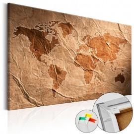 Quadro de cortiça - Paper Map [Cork Map]