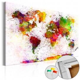 Quadro de cortiça - Artistic World [Cork Map]