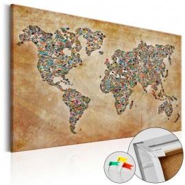 Quadro de cortiça - Postcards from the World [Cork Map]