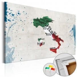 Quadro de cortiça - Italy [Cork Map]