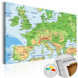 Quadro de cortiça - Europe [Cork Map]