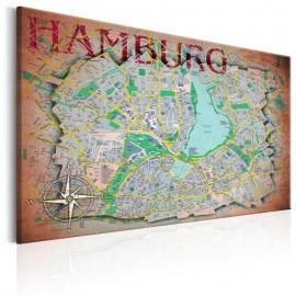 Quadro - Map of Hamburg