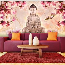 Fotomural XXL - Buddha y magnolia