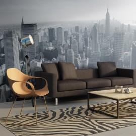 Fotomural XXL - Panorama de Nueva York en blanco y negro