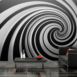 Fotomural XXL - Black and white swirl