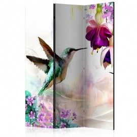 Biombo - Hummingbirds and Flowers [Room Dividers]