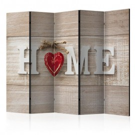 Biombo - Room divider - Home and red heart