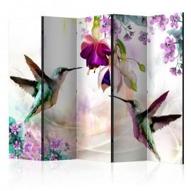 Biombo - Hummingbirds and Flowers II [Room Dividers]