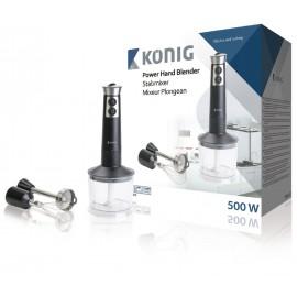 Aperto de mão de 500W com acessórios König cozinha