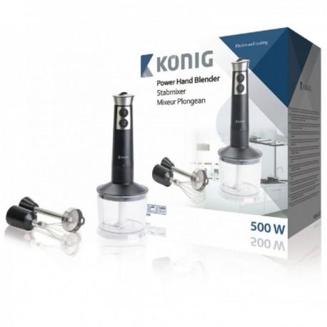 Batidora de mano de 500W con accesorios König Cocina
