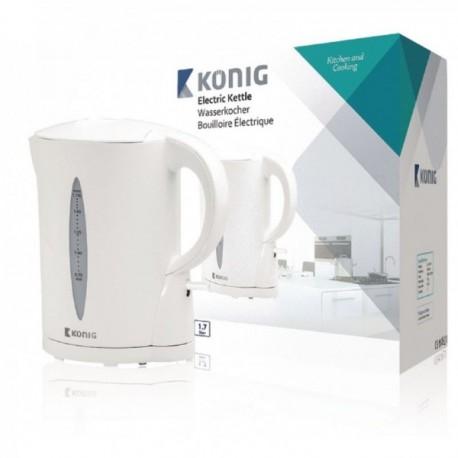 Hervidora eléctrica de 1,7 l en color blanco König Cocina