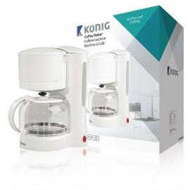 Cafetera para 11 servicios en color blanco König Cocina