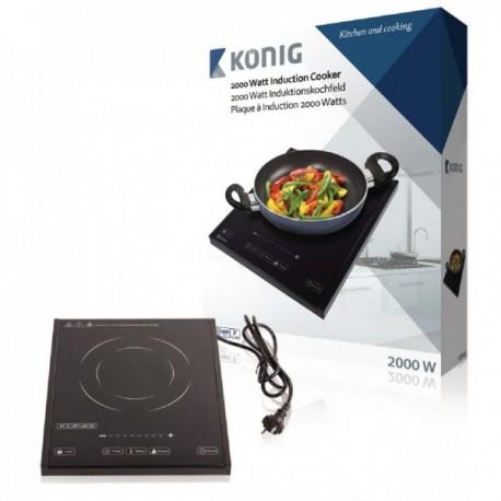 Cocina de inducción de 2000 W König Cocina