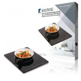 Placa de inducción de 2000W con control táctil y diseño fino König Cocina