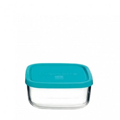 Tupper de cristal Frigoverre de tapa azul