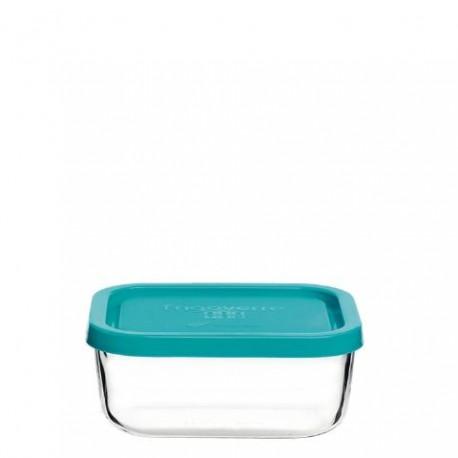 recipiente de cristal Frigoverre de tapa azul