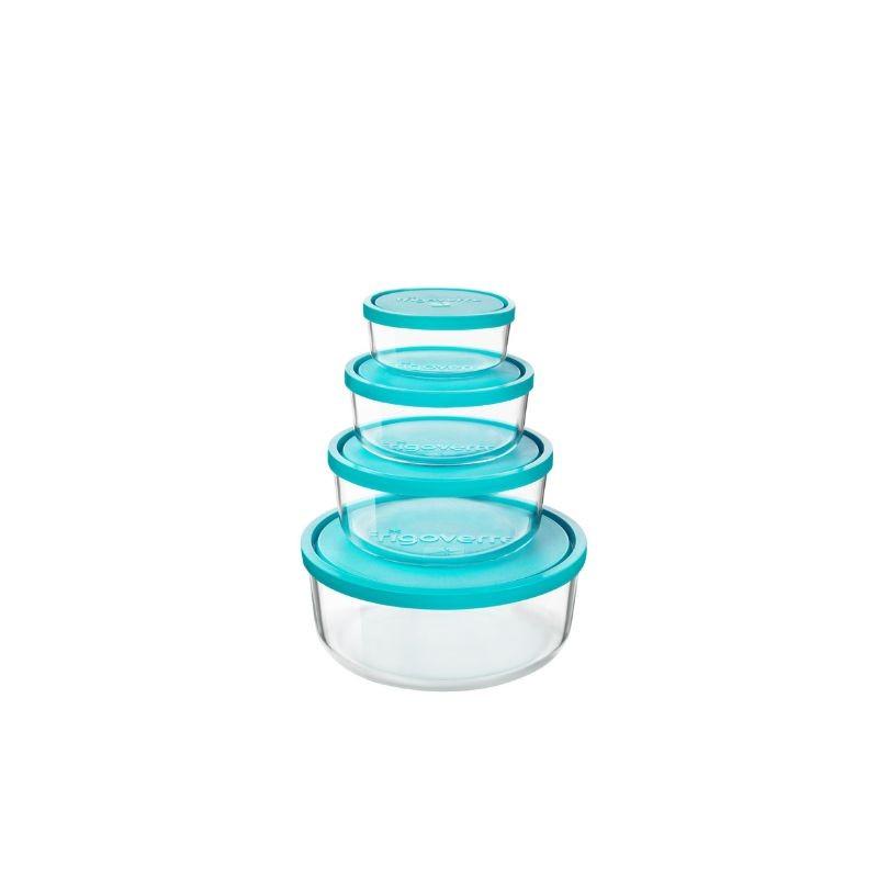 frigoverre redondos recipientes para refrigerado alimentos