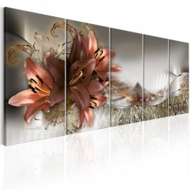 Quadro - Lilies and Abstraction