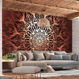 Papel de parede autocolante - Spider Web (Orange)
