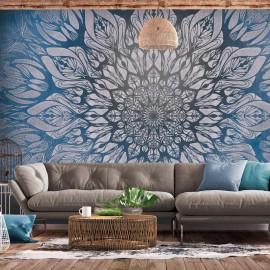 Papel de parede autocolante - Spider Web (Blue)