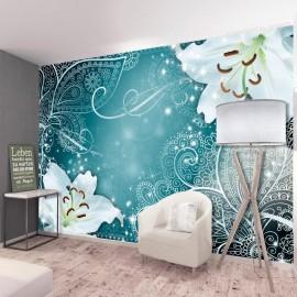 Papel de parede autocolante - Oriental Wings (Turquoise)