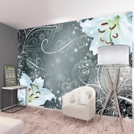 Papel de parede autocolante - Oriental Wings (Grey)