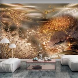 Papel de parede autocolante - Dandelions' World (Gold)