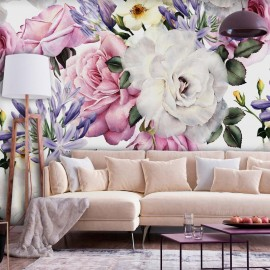 Papel de parede autocolante - Sentimental Garden (Colourful)