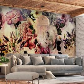 Papel de parede autocolante - Nostalgia Flowers