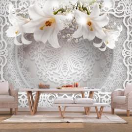 Papel de parede autocolante - Lilies and Ornaments