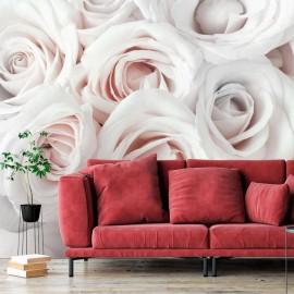 Papel de parede autocolante - Satin Rose (Pink)