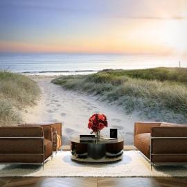 Fotomural autoadhesivo - Paseo por la mañana en la playa