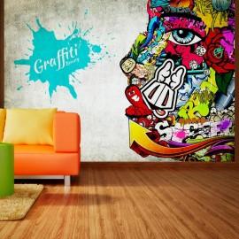 Papel de parede autocolante - Graffiti beauty