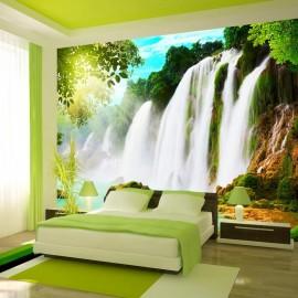 Fotomural autoadhesivo - Belleza de la naturaleza: cascada