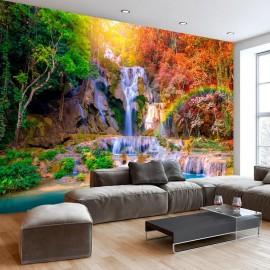 Papel de parede autocolante - Tat Kuang Si Waterfalls