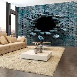 Papel de parede autocolante - Dancing bricks