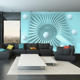 Papel de parede autocolante - Blue maze