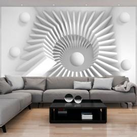 Papel de parede autocolante - White jigsaw