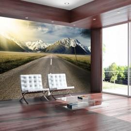 Papel de parede autocolante - The long road