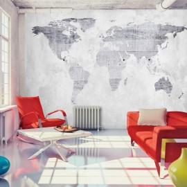 Papel de parede autocolante - Concrete Map
