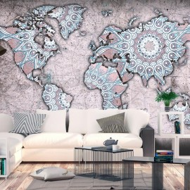 Papel de parede autocolante - Travel Mandala