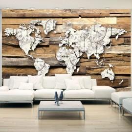 Papel de parede autocolante - Map of Time