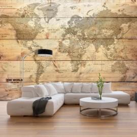 Papel de parede autocolante - Map on Boards