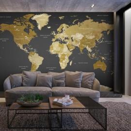 Papel de parede autocolante - World Map: Modern Geography