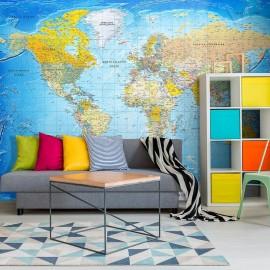 Papel de parede autocolante - World Classic Map