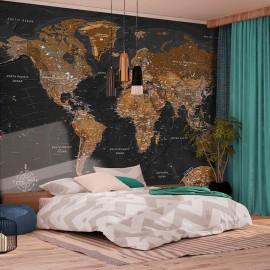 Papel de parede autocolante - World: Stylish Map